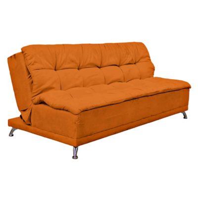 Sofá Cama Blis 3 Puestos Tela Naranja