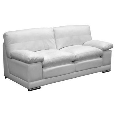 Sofá Alexa 3 Puestos Ecocuero Blanco