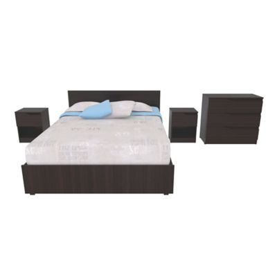 Combo Dormitorio Wess 78,8x146,3x203,3cm Wengue