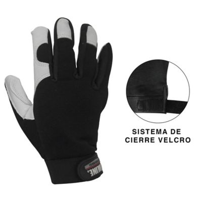 GUANTE CUERO EXECUTIVE NEGRO TALLA L RED