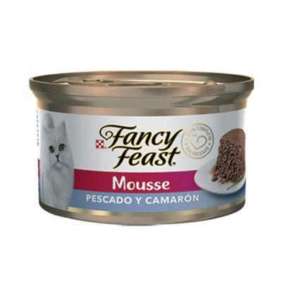 FANCY FEAST MOUSSE PESCADO Y CAMARON X 8
