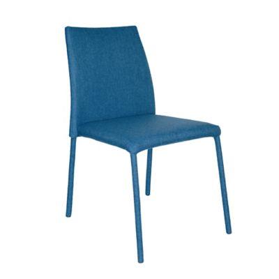 Silla Comedor Lugo Tela Azul