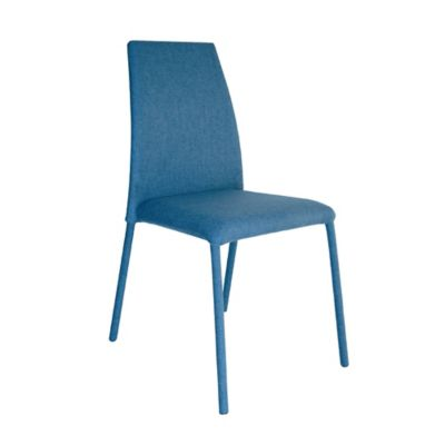 Silla Comedor Venecia Tela Azul