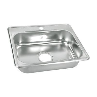 Lavaplatos para Cocina 62x48 cm con Perforación 3 1/2 pulgadas Monocontrol en Acero Inoxidable