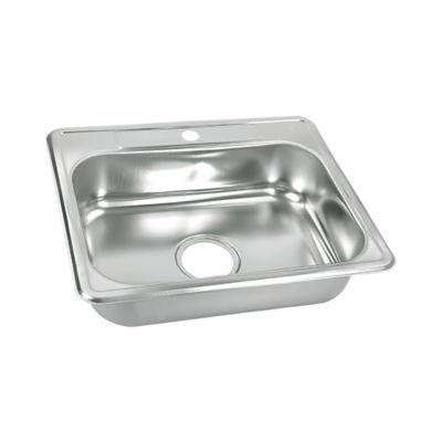 Lavaplatos para Cocina 50x40 cm con Perforación 3 1/2 pulgadas Monocontrol en Acero Inoxidable