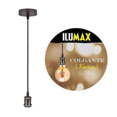 Lámpara Colgante Vintage 1 Luz E27 Negro