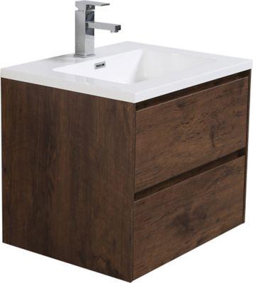 Mueble de baño Slim Chocolate 60 cm con lavamanos