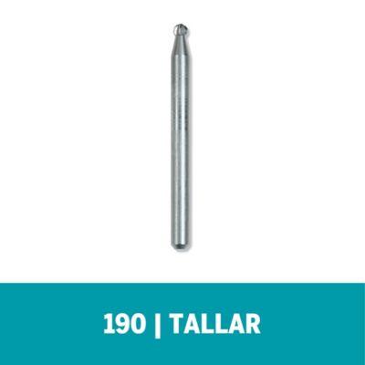 """Fresa de Alta Velocidad 190 - 3/32"""" - 2,4mm (5 und)"""