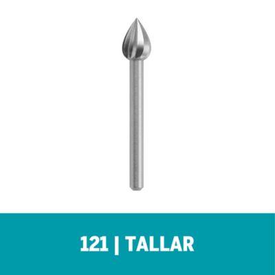 """Fresa de Alta Velocidad 121 - 1/4"""" - 6,4mm (3 und)"""