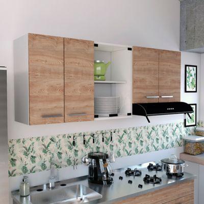 Mueble Para Cocina Superior 1.50 Metros Sicilia 6 Puertas Miel