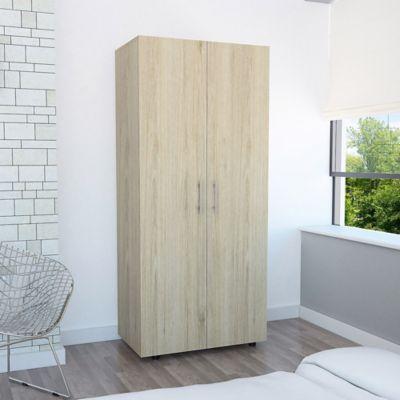 Closet Tera 2 Puertas 180x80x48cm Rovere + Blanco