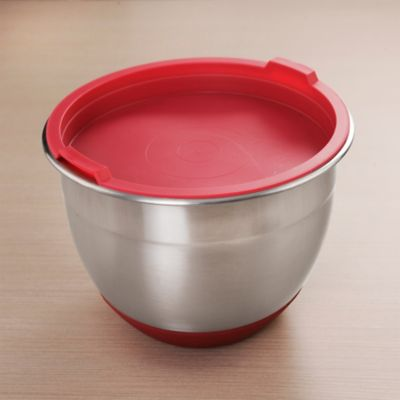 Bowl Acero 18cm Tapa-Base Roja