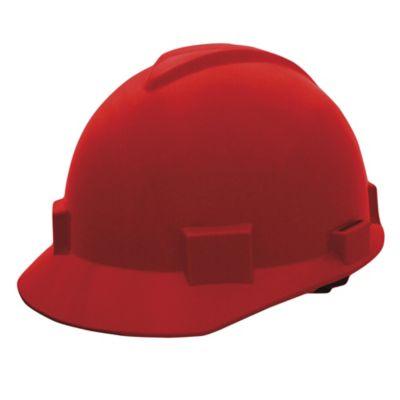 Casco Contratista Con Cremallera Color Rojo