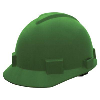 Casco Contratista Con Cremallera Color Verde