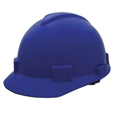 Casco Contratista Con Cremallera Color Azul