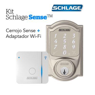 Kit Sense Camelot Satín+Adaptador Wifi Br400 Schlage