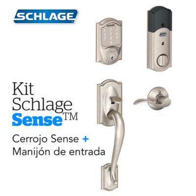 Kit Sense Camelot Satín+Manijón Derecho Schlage