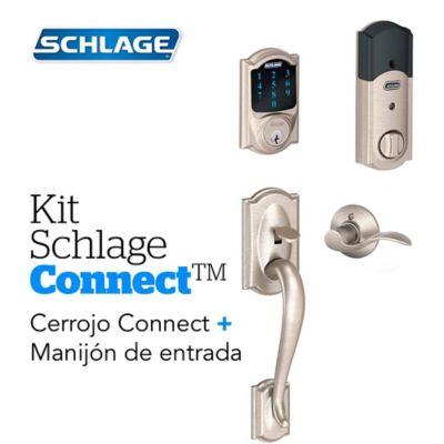Kit Connect Camelot Satín+Manijón  Izquierdo Schlage