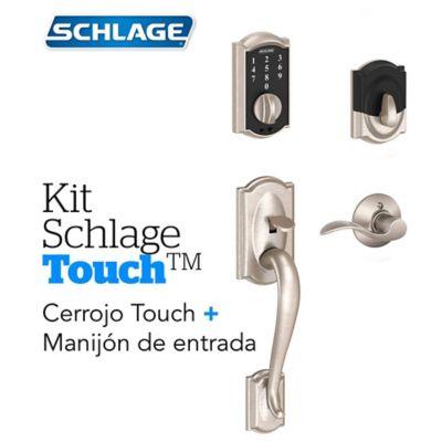 Kit Cerradura Digital Touch Camelot Satín+Manijón Derecho