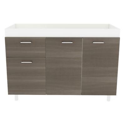 Mueble Inferior para Cocina Rossi 3 Puertas 1 Cajón 85x120x52 cm Verde Olivo