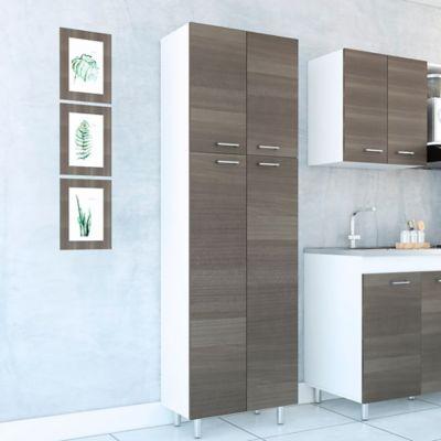 Mueble Alacena para Cocina Rossi 4 Puertas 195x61x36 cm Verde Olivo