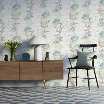 Papel Mural Hojas Vr Natural 53 cm x10 Mts Urban Flowers
