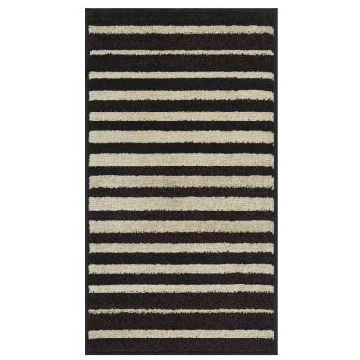 Tapete Carrera Rayas 133 x 190 cm Negro