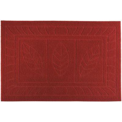 Tapete Entrada Texture Hoja Rojo 38 x 57 cm