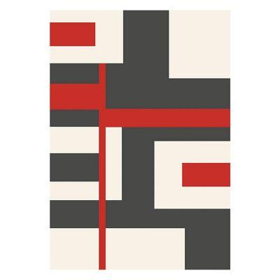 Tapete Shuffle Rojo 160x230 cm
