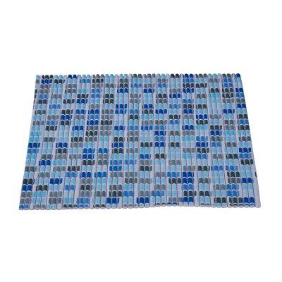 Tapete Baño Antideslizante Azul 40x60 cm