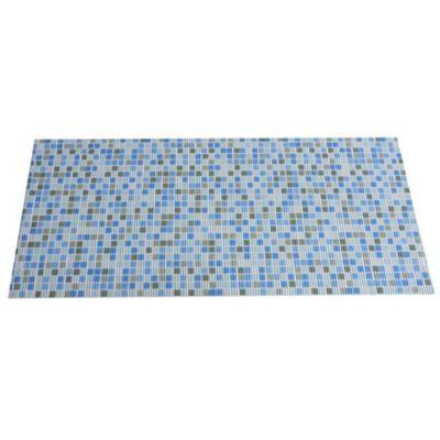 Tapete Baño Antideslizante Azul 65x150 cm