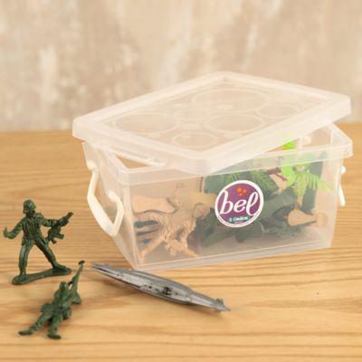 Mini Caja Organizadora 7x11x16 cm 650 Ml Transparente