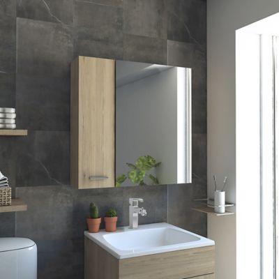 Gabinete para Baño Sines 1 puerta con Espejo Rovere