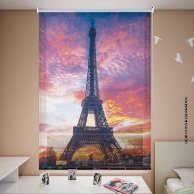 Persiana Enrollable Solar Screen 120 X 180 cm Atardecer París