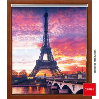 Persiana Enrollable Solar Screen 120 X 180 cm Atardecer París