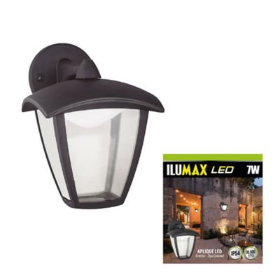 Aplique exterior colonial inferior led 7w luz fría ilumax