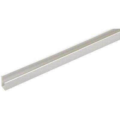 Perfil H PVC Blanco 6x15x7mm 1m
