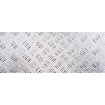 Chapa Decorativa Aluminio Grano 50X20mm