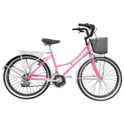 Bicicleta Playera R- 26 18 Cambios Rosado Bpla2604