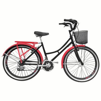 Bicicleta Playera R- 26 18 Cambios Negra Bpla2605