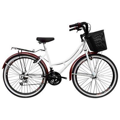 Bicicleta Playera R- 26 18 Cambios Blanca Bpla2607