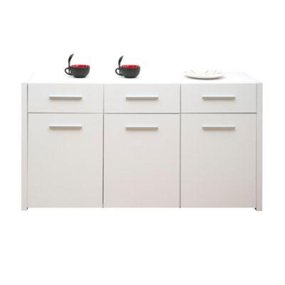 Biffet 3 Cajones 3 Puertas 80x150x45cm Blanco