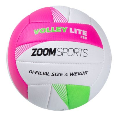 Balón Zoom Volley Lite No.5 Rosado y Verde