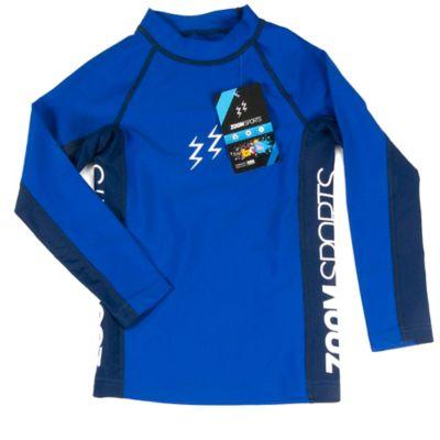 Camiseta Manga Larga Natación Talla 6 Azul