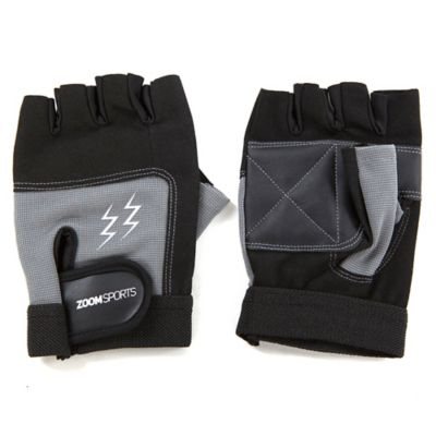 Guantes Gym Zoom Fitness Black Grey Talla L