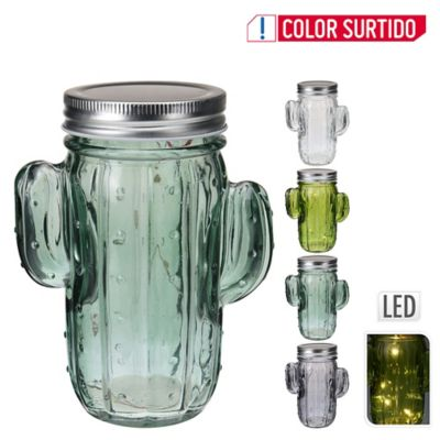 Cactus Cristal Con Luz 5 Led