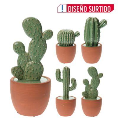Maceta Ceramica Cactus 4Ass