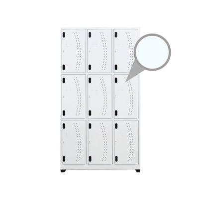 Locker 9 Puestos 180 x 93 x 30 cm  Blanco Violeta