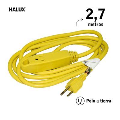 Extensión Uso Pesado P/Tierra Cal14 3Sal 2.7M Amarillo