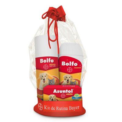 Kit Rutina x 580 gr Para Perros y Gatos (Jabón Herbal+Bolfo Polvo + Bolfo Shampoo)